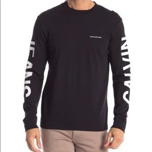 Calvin Klein Traveling Logo Long Sleeve T-Shirt.